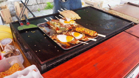Skewers near Osaka Castle